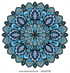 Mandala, tribal ethnic ornament, vector islamic arabic indian pattern.