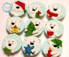 Polar bear cupcakes - Cake by Sarah - Estrele Cakes