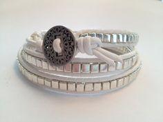 Metallic Bead Wrap Bracelet. $69.00, via Etsy.