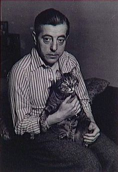 Jacques Prévert and his cat by Brassai