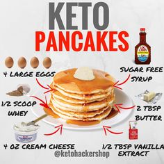 Looking for some easy keto diet recipes? Check out 3 Tasty & Proven Keto Recipes which will only satisfy your hunger but will also help you in weight loss. Cetogenic Diet, Low Carb Diet, Low Carb Recipes, Diet Recipes, Easy Recipes, Keto Diet Side Effects, Desserts Keto, Comida Keto, Keto Pancakes