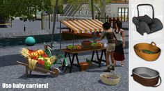 Around the Sims 3 | Custom Content Downloads| Objects | Kids | Baby Carrier