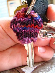 """This fun pattern was invented one day when I was showing my mom about Magic Loop. She asked, """"what is Magic Loop good for?"""" I answered that it was especially good for knitting little tiny objects in the round, like glove fingers, armwarmers, and the tops of hats."""