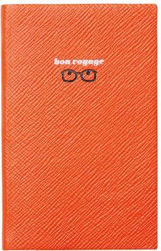 "Smythson Varham Panama ""Bon Voyage"" Journal, Orange"