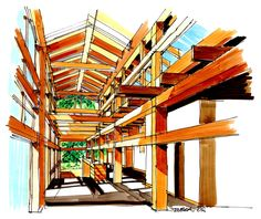 Tseshaht-Tribal-Multiplex-and-Health-Centre-By-Lubor-Trubka-Associates-Architects-Interior-sketch.jpg 1,000×839 pixels