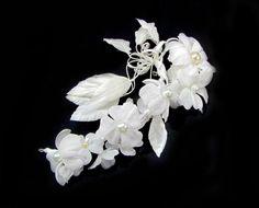 Wedding Flower Tiara Ivory and White Wedding Flower by flowershair, $50.00