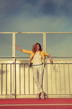 """shimmer jeans plus shoes in """"Urban Groove"""" fashion editorial by Sebastian Cviq"""