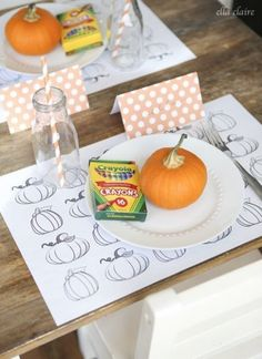 Kids table - Thanksgiving tablescape...
