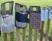 Reversible Blue Jean Totes with Quilt Patterns