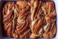 twisty cinnamon buns – smitten kitchen Brunch Recipes, Sweet Recipes, Breakfast Recipes, Dessert Recipes, Brunch Ideas, Baking Buns, Bread Baking, Yeast Bread, Just Desserts