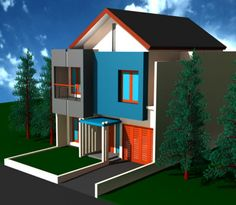 Contoh Gambar Rumah Idaman Minimalis Modern Minimalist House Design, Minimalist Home, 2nd Floor, Own Home, This Is Us, Flooring, Living Room, Simple, Outdoor Decor