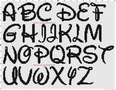 Alphabet Disney 30x30 point de croix - 3866x3026 - 3695940