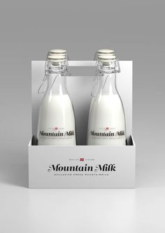 Norwegian graphic designer, Anders Drage, sent us this beautiful identity and packaging concept for a fictitious milk brand.
