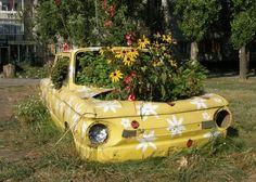 Carros-floreiras