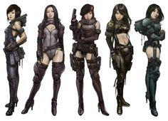 Resultado de imagem para cyberpunk character concept art