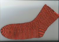 Treasures Made From Yarn: Bumpy Ribbed Sock in 48 stitches