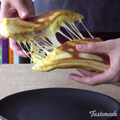 Think of this ridiculously cheesy flatbread as an epic Hot Pocket. Perfect for lunch, dinner or even a snack! Save the recipe on our app! http://link.tastemade.com/HE7m/H1wHe4m2mA