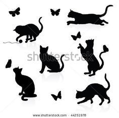 Google Image Result for http://thumb11.shutterstock.com/display_pic_with_logo/283072/283072,1263216779,2/stock-vector-silhouettes-of-cats-with-butterflies-44251978.jpg