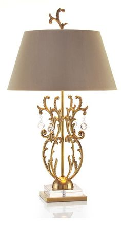 Table Lamps, Luxury Designer Gold & Crystal Lamp, so beautiful, one of over 3,000 limited production interior design inspirations inc, furniture, lighting, mirrors, tabletop accents and gift ideas to enjoy repin and share at InStyle Decor Beverly Hills Hollywood Luxury Home Decor enjoy & happy pinning