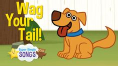 VERB ACTION SONG Wag Your Tail | Animal Action Verb Song | Super Simple Songs