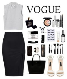 """""""Black and white vogue"""" by beatriizzz on Polyvore featuring Monki, Forever New, Lacoste, Zero Gravity, Miss Selfridge, Forever 21, Lancôme, Chanel, NYX and Bobbi Brown Cosmetics"""