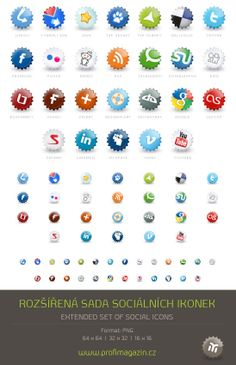30 Social Media Icon Packs - Super Sweet and Free - StarSunflower Studio