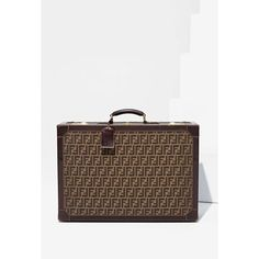 Fendi Zucca Leather Suitcase (€1.770) ❤ liked on Polyvore featuring bags, luggage and viage