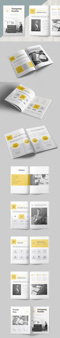 Clean and Professional Company Profile Brochure Template InDesign INDD - 16 Pages