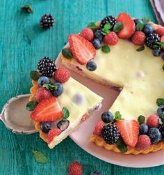 Pudingová torta s lesným ovocím | Recepty.sk