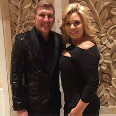 Todd and Julie look absolutely fabulous together in sleek black ensembles! Credit: Todd Chrisley
