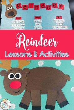 Looking for a fun winter theme to teach during the month of December? This Reindeer Unit has over 80 pages of fun reindeer activities and includes an informational text with real pictures, vocabulary cards, Chit Chat messages, crafts and MORE! Christmas Activities, Christmas Themes, Christmas Fun, Winter Activities, Country Christmas, Holiday Crafts, Kindergarten Activities, Kindergarten Reading, Learning Activities