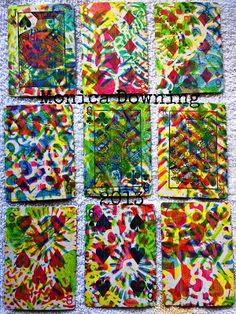 Playing cards on the Gelli Plate