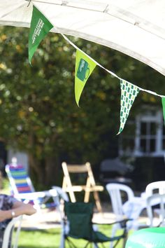 I am passionate about sunny days and bunting.