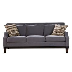 Jai Ash Sofa ($530) ❤ liked on Polyvore featuring home, furniture, sofas, ash wood furniture and ash furniture