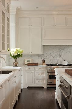 Georgetown Row House - transitional - Kitchen - Dc Metro - Overmyer Architects <3