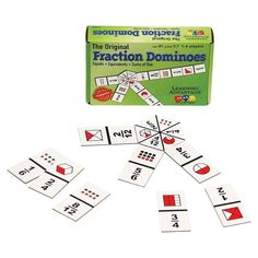 Back to School Deal – Learning Advantage The Original Fraction Dominoes – 45 Dominoes – Math Manipulative Game for Kids – Teach Equivalent, Adding and Subtracting Fractions Adding And Subtracting Fractions, Equivalent Fractions, Learning Fractions, Math Fractions, Math Fraction Games, Math Games, Fun Games, Fractional Number, Back To School Deals