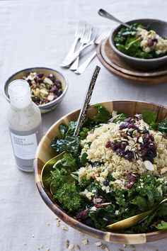 Easy potluck dishes: Quinoa salad with poppyseed dressing. Layer cooked Organic Quinoa, Dried Fruit & Nut Mix, over your favorite greens. Toss with Poppyseed Dressing for a creamy finish.