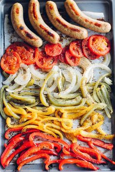 Sheet Pan Meals Without Chicken - This Natural Home - quick healthy meals - Mackerel Quick Healthy Meals, Healthy Dinner Recipes, Healthy Eating, Cooking Recipes, Quick Summer Meals, Dishes Recipes, Delicious Meals, Vegetarian Meals, Quick Recipes