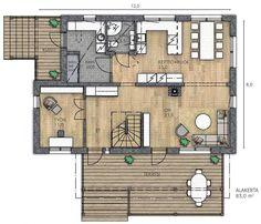 VALO 169 C - Kannustalo House Plans, Floor Plans, Diagram, How To Plan, Asd, Inspiration, Design, Home Decor, Biblical Inspiration