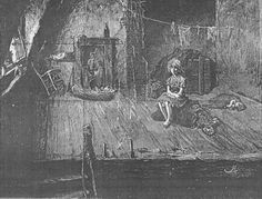 Dance's Historical Miscellany: The Victorian watercress girl - Girl in a slum room, from George Robert Sims' How the Poor Live (1883)
