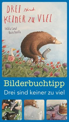 Drei sind keiner zu viel A magical picture book, illustrated with soft watercolors but also wit in t Parenting Books, Gentle Parenting, Kids And Parenting, Family Name Tattoos, Parent Tattoos, Magical Pictures, Cool Pictures, First Week Of Pregnancy, Book Works