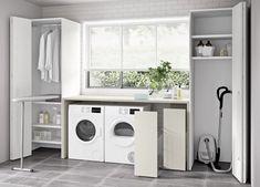 Go Modern Ltd > Wardrobes Utility Room Storage, Utility Closet, Storage Room, Tall Cabinet Storage, Garage Laundry Rooms, Laundry Room Layouts, Laundry Room Design, Meme Design, Küchen Design