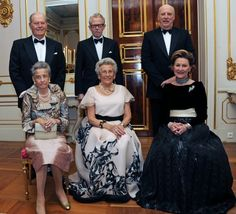 At the PALACE: on the occasion of Princess Astrid's 80-year day in 2012 was the arranged festivities at the Palace. From left: Princess Ragnhild and her husband Erling Lorentzen, Johan Martin Ferner, Princess Astrid and the King and Queen. Princess Ragnhild passed away in september 2012.