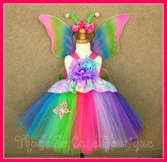 Rainbow Butterfly Fairy Tutu Dress Child by thatssocutecustoms, $60.99
