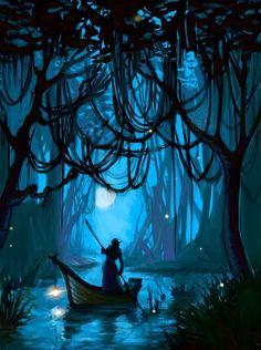 New jungle landscape illustration deviantart ideas Art Photography, Fantasy Artwork, Fantasy Art, Amazing Art, Fantasy Art Landscapes, Painting, Art, Digital Painting, Scenery