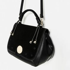Image 5 of LEATHER FLAP CITY BAG from Zara