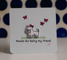 Lawn Fawn - Critters at the Dog Park _ CAS card by Latisha