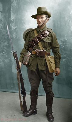 Uniform of The Australian Light Horse Regiment Anzac Soldiers, Ww1 Soldiers, Military Art, Military History, Military Uniforms, World War One, First World, British Army Uniform, Military Action Figures