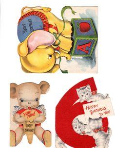 Free printable vintage greeting cards. Great for scrapbooking, collage art & art journaling.