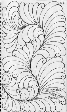 zentangle fonts | LuAnn Kessi: Feathers.....from my Sketch Book